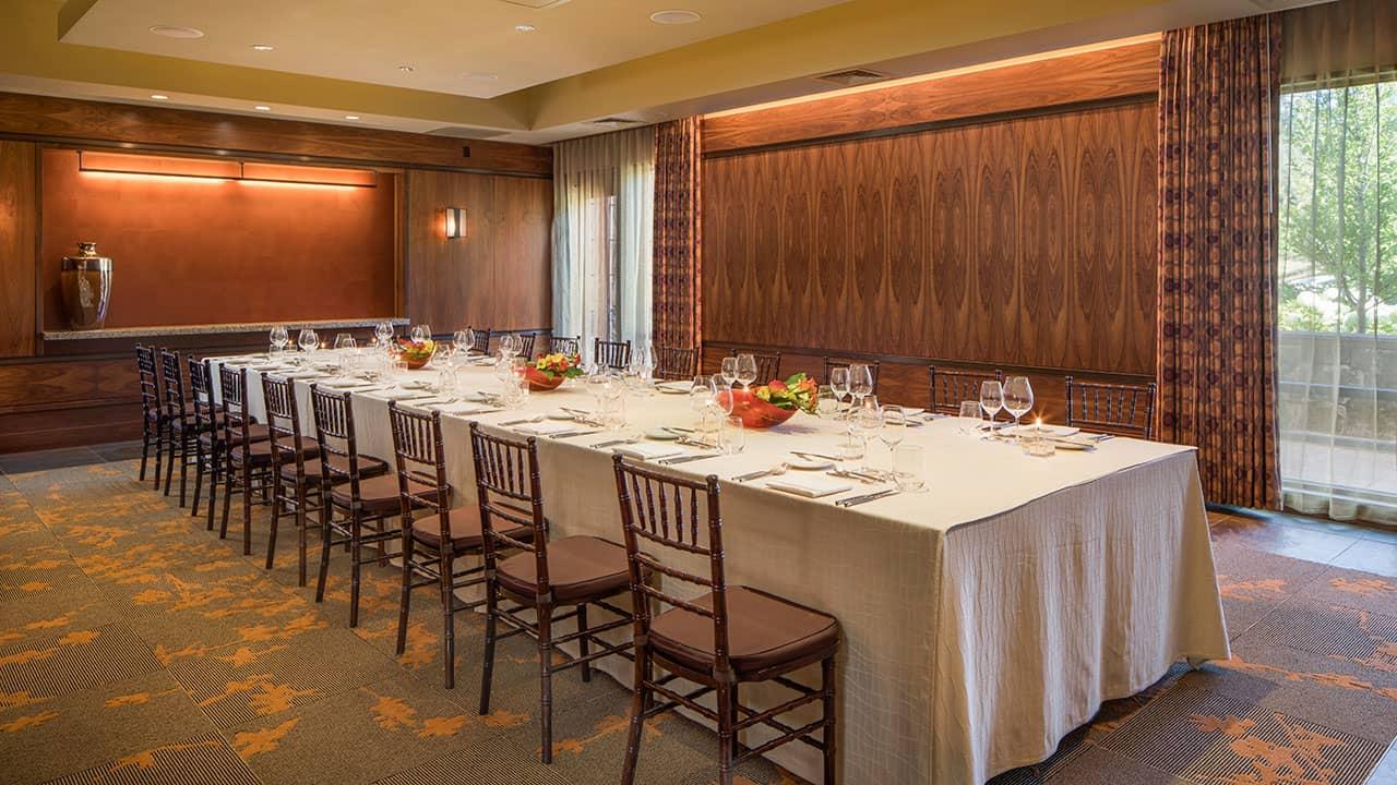 Allison Inn and Spa Events Table Setup