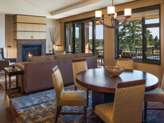 Grand Suite Dining Area and Living Room