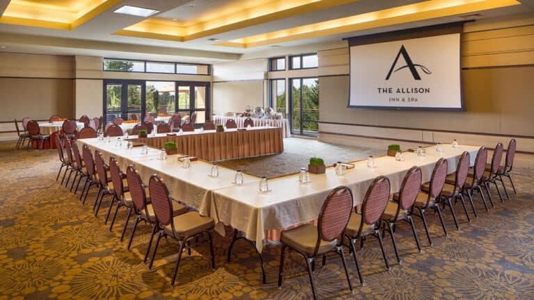 Allison Inn Ballroom Meeting Setup