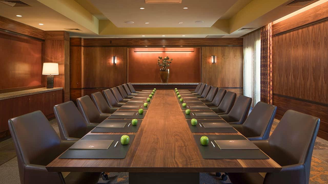Allison Inn and Spa Private Boardroom Setup