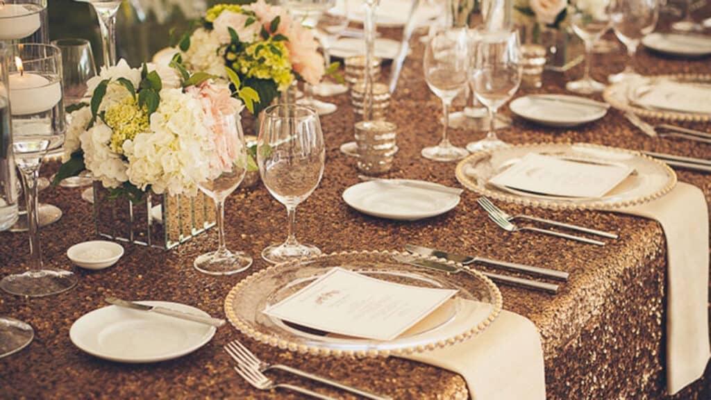 Allison Inn and Spa Wedding Setup