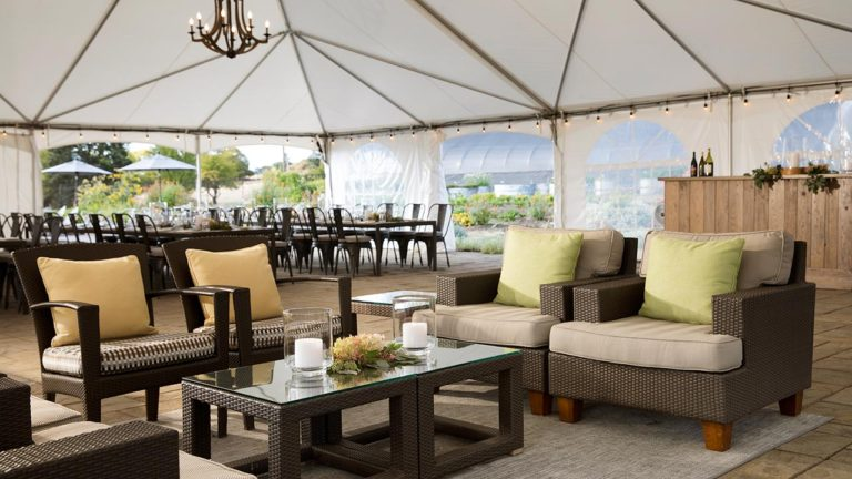 Chef's Garden - Event Tent - Lounge Seating