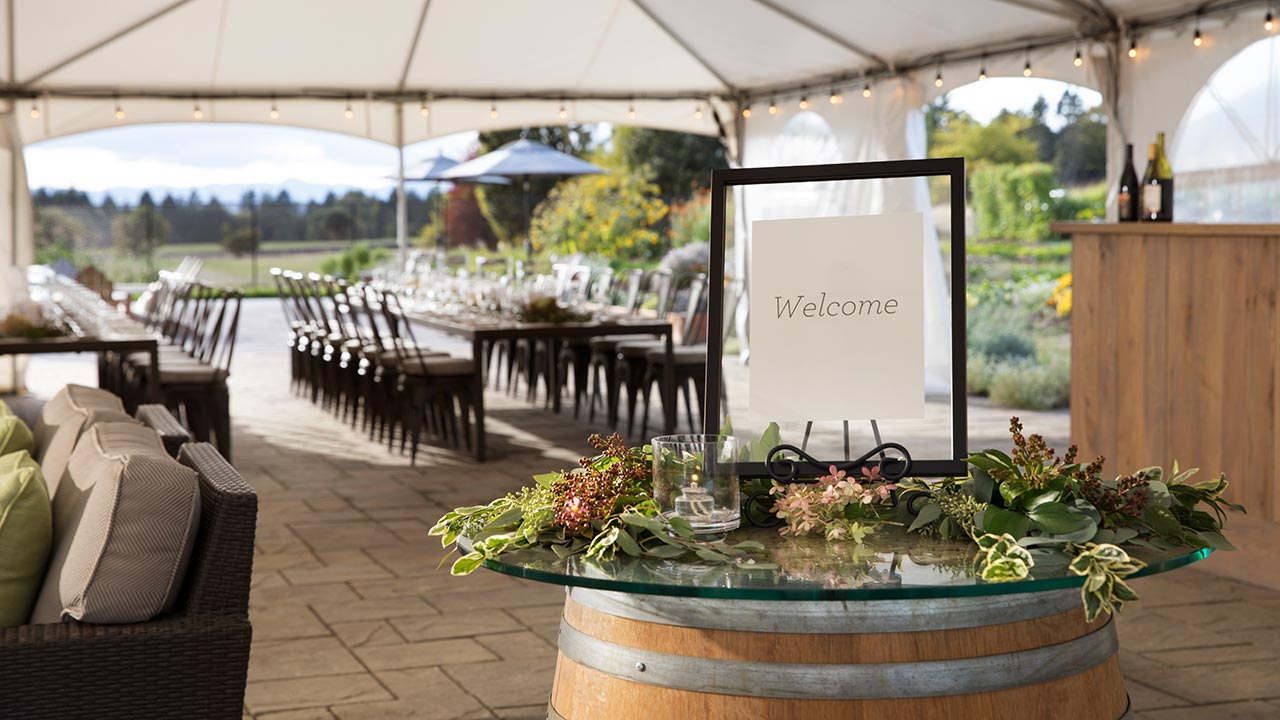 Chef's Garden - Event Tent - Welcome Reception
